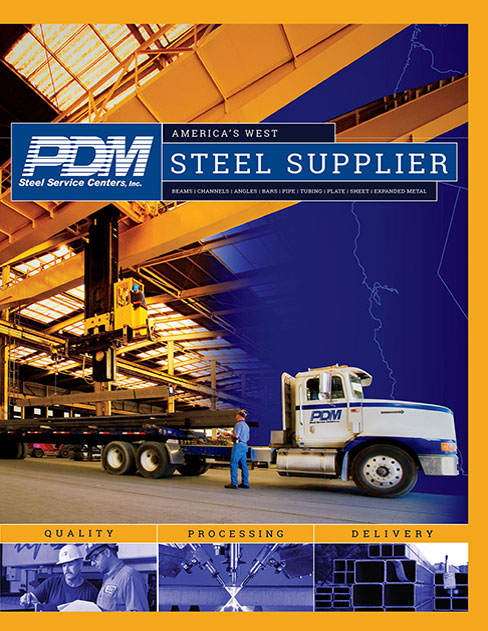 Corporate Brochure for PDM Steel designed by Profile